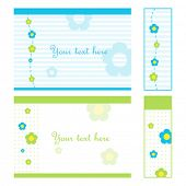 Set of cards and gift tags