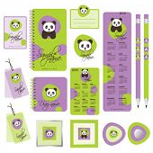 Office set - Cute little panda design