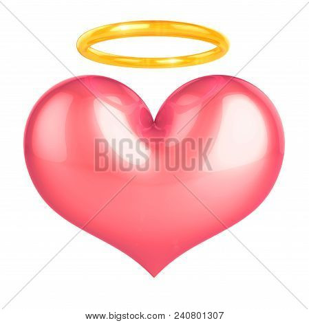 poster of Heart Of Angel Pink Love Symbol
