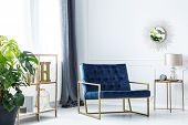 Navy Blue Chair poster