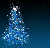 Постер, плакат: Игристые Боке Рождественская елка иллюстрации