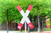 St. Andrews Cross On A Railroad Crossing poster