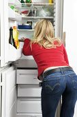 stock photo of bulimic  - home life - JPG