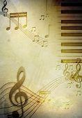 Постер, плакат: Фоновой музыки в стиле ретро