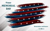 Happy Memorial Day. Poster Or Banner Of Happy Veterans Day With U.s.a Flag Background. poster