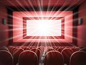 Постер, плакат: Кинотеатр интерьер
