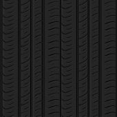 Motor Tire Tracks Vector Illustration. Seamless Automotive Pattern Useful For Poster, Print, Flyer,  poster