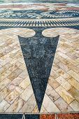 The Mosaic Of The Portuguese Maritime Discoveries At The Monument To The Discoveries. District Of Be poster