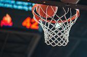 Basketball Hoop, Basketball Scoring In The Stadium poster