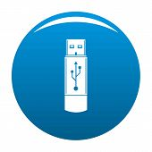 Portable Flash Drive Icon. Simple Illustration Of Portable Flash Drive Vector Icon For Any Design Bl poster