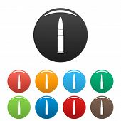 Постер, плакат: Weapon Cartridge Icon Simple Illustration Of Weapon Cartridge Vector Icons Set Color Isolated On Wh