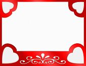 image of valentines day card  - Valentines day hearts with a satin background - JPG