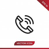 Phone Call Vector Icon Flat Style Illustration For Web, Mobile, Logo, Application And Graphic Design poster