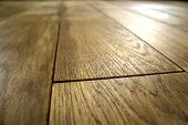 Natural Brown Texture Wooden Parquet Floor Boards poster