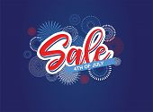 Fourth Of July. 4th Of July Holiday Banner. Usa Independence Day Banner For Sale, Discount, Advertis poster
