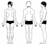 stock photo of boxer briefs  - Full length profile - JPG