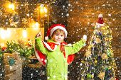 Make Wish. Best Wishes For You Your Family This Christmas. Merry Christmas And Happy New Year. Cute  poster