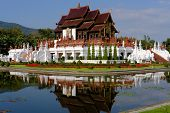 Royal Pavilion In Royal Park Rajapruek Which In Botanical Garden & Must See For Tourist In Chiang Ma poster