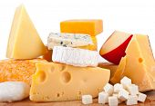 pic of brie cheese  - Various types of cheese composition - JPG