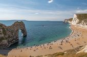 View Of The Arch At Durdle Door In Dorset. poster
