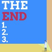 Handwriting Text The End. Concept Meaning Final Part Of Play Relationship Event Movie Act Finish Con poster