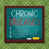 Word Writing Text Chronic Diseases. Business Concept For A Disease Or Condition That Lasts For Longe poster