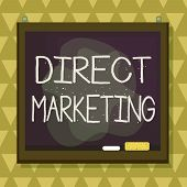 Text Sign Showing Direct Marketing. Conceptual Photo Business Of Selling Products Directly To The Pu poster