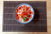 Japanese Food Salmon Don poster