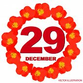 December 29 Icon. For Planning Important Day. Banner For Holidays And Special Days. Twenty-ninth Of  poster