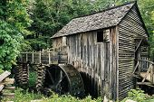 stock photo of gatlinburg  - Old Mill taken outside of Gatlinburg in Cades Cove Tennessee - JPG