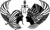 Постер, плакат: Древний Египет король и королева