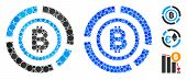 Bitcoin Circle Diagram Composition Of Circle Elements In Various Sizes And Color Tinges, Based On Bi poster