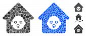 Nursery House Composition Of Round Dots In Variable Sizes And Color Tones, Based On Nursery House Ic poster