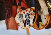 Metal Locks. A Bunch Of Locks. Heart Locks. A Symbol Of Love And Loyalty For The Newlyweds. Symbol O poster