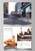 Vector Layouts Of Covers Design Templates For Trifold Brochure, Flyer Layout, Book Design, Brochure  poster