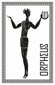 Stylized Image Of Orpheus. Greek Mythology. Vector Hand Drawing poster