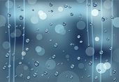 picture of dapple-grey  - background with rainy  window and  water drops - JPG