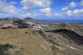 Valley Temisa And Coast Of Ocean,  Lanzarote, Canary Islands, Spain