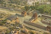 stock photo of vijayanagara  - Part of ruins of Vijayanagara capital of the Vijayanagara Empire - JPG