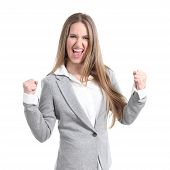 Euphoric And Young Businesswoman poster