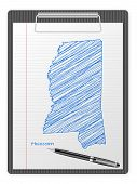 Clipboard Mississippi Map