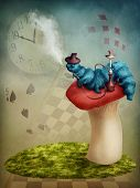 picture of alice wonderland  - The Hookah Smoking Caterpillar from Alice in Wonderland - JPG