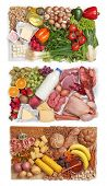 foto of carbohydrate  - Food combining concept  - JPG