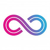 picture of mobius  - Illustration of Infinity Symbol Design isolated on a white background - JPG