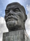 stock photo of lenin  - Monument to Ulyanov Lenin in Russia the city of Ulan - JPG