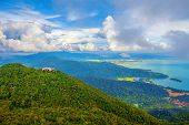 image of langkawi  - The landscape of Langkawi seen from Cable Car viewpoint - JPG