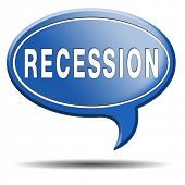 image of stock market crash  - recession crisis bank and stock crash economic and financial bank recession market crash icon or button - JPG