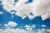 stock photo of stratus  - Cloudscape of bright blue sky - JPG