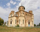 Ruined old church. Lugansk region. Ukraine.