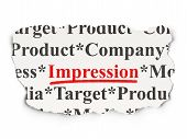 Marketing concept: Impression on Paper background